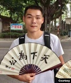 深圳11·15大抓捕中被指定监视居住三年后取保获释的王军。(图片来自网络)