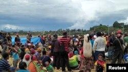Les personnes déplacées dans les hauts plateaux du centre de la Papouasie-Nouvelle-Guinée, le 1er mars 2018.