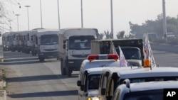 联合国援助物资卡车