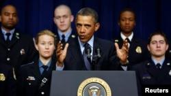 奥巴马总统谈论强制削减预算问题
