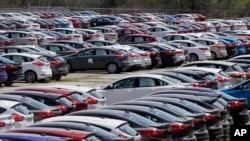 福特汽車公司在美國生產的福特福克斯(Ford Focus)小型轎車(2015年5月1日)