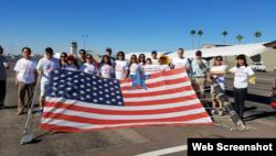 亚利桑那华人支持川普团体(网络截图)