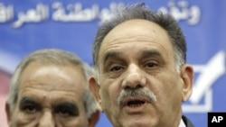 صالح المطلق، معاون نخست وزیر عراق (راست)