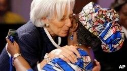 Ministar kudin Najeriya Ngozi Iweala- Okonjo da shugabar asusun lamuni na duniya Christine Lagarde