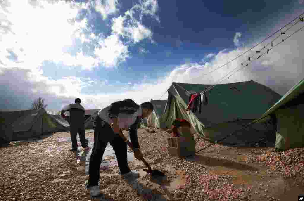 Refugees at a temporary camp in Marj, Lebanon, Jan. 7, 2013.