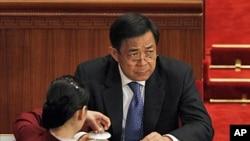 ທ່ານ Bo Xilai, ອະດີດຫົວໜ້າພັກຄອມມີວນິດທີ່ເມືອງ Chongqing, ຈີນ. ວັນທີ 26 ເມສາ 2012.