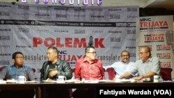 Diskusi mengenai revisi Undang-undang Komis Pemberantasan Korupsi di Jakarta, 7 September 2019