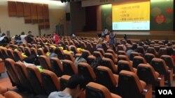 지난 3일 한국 국립중앙박물관에서 탈북민 대상 백일장 대회가 열렸다.