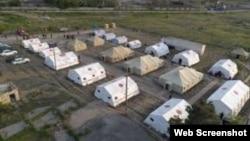 Rusiya-Azərbaycan sərhədində azərbaycanlıların saxlanıldığı çadırlar