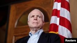 FILE - Senator John McCain.