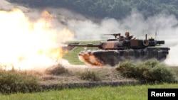 Танк Abrams на військових навчаннях у Південній Кореї