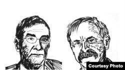 法国科学家塞尔日•阿罗什(左)与美国科学家大卫•维因兰德(Nobelprize.org)