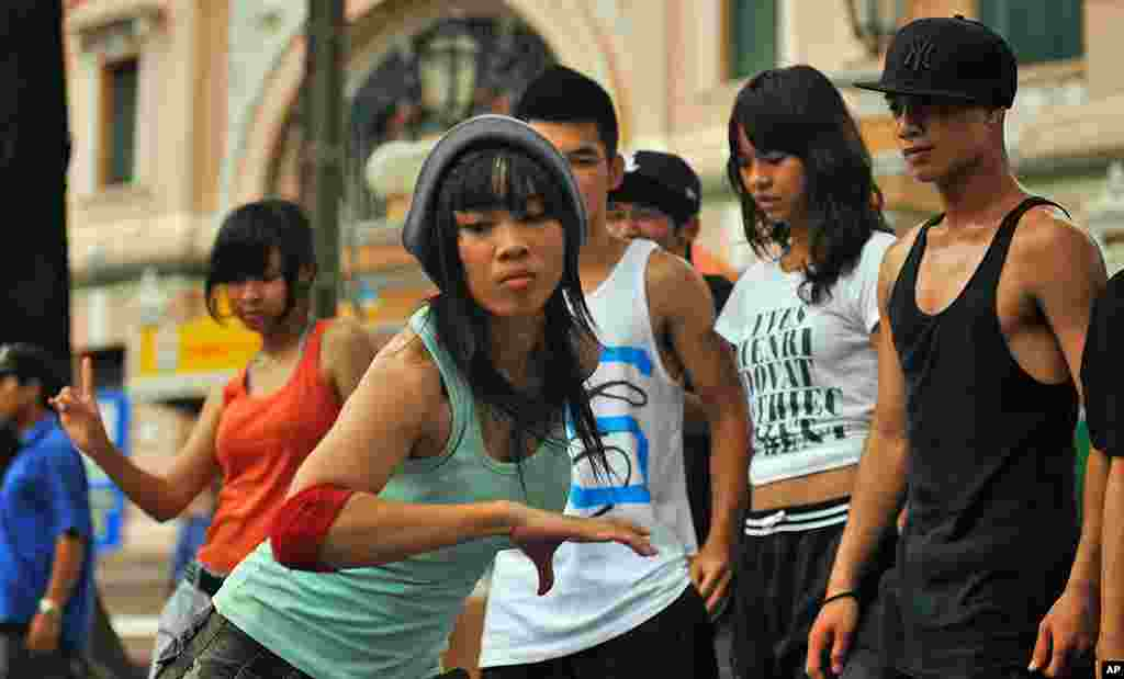 "Kim dancing in the movie ""Saigon Electric"" (Courtesy of Saigon Electric)"