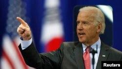 Phó Tổng thống Hoa Kỳ Joe Biden đọc diễn văn tại Đại học Yonsei, ở Seoul, Nam Triều Tiên 6/12/13