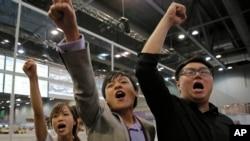 新生代香港立法者正赢得香港立法会选举的胜利