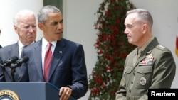 Başkan Obama, Beyaz Saray'da Orgeneral Joseph Dunford'u basına tanıtırken