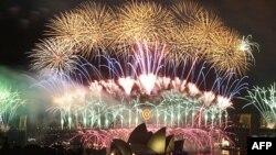 Pháo bông mừng Năm Mới ở Sydney, Australia