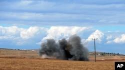 Pertempuran di Kobani, Suriah di dekat wilayah Suruc, perbatasan Turki-Suriah (29/9)
