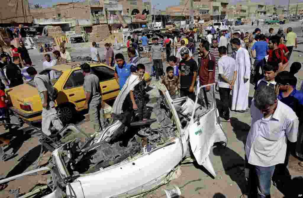 29일 이라크 바그다드 사드르 지역에서 차량 폭탄 테러가 발생했다.