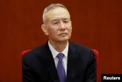 中国副总理刘鹤在人民大会堂参加改革开放40周年纪念活动(2018年12月8日)