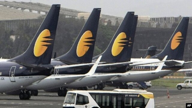 Jet Airways aircrafts sit on the tarmac at the Santacruz domestic airport terminal in Mumbai, India (2009 File)