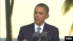 Pernyataan Presiden Obama di pertemuan APEC yang lalu menyulut kecaman dari media Tiongkok Xinhua (foto: dok).