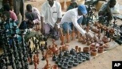 Feira do pau-preto em Nampula