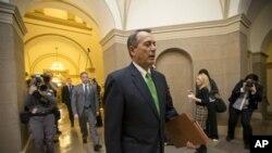 Le président de la Chambre des Représentants, John Boehner (1er jan. 2013)