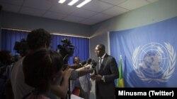 Le chef de la diplomatie malienne, Abdoulaye Diop, au Conseil de sécurité à New York, le 5 octobre 2017. (Twitter/Minusma)