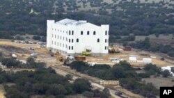Le ranch de Warren Jeffs de la secte mormone dissidente polygame, près d'Eldorado, Texas, 28 novembre 2012.