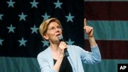 Senator dan kandidat presiden dari Partai Demokrat AS, Elizabeth Warren. (Foto: dok).