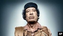 Libya's Muammar Qaddafi in a portrait by Platon Antoniou.