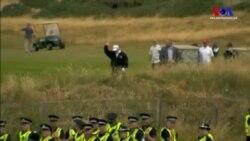 Trump İskoçya'da da Protesto Edildi