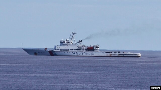 Chinese patrol ship Haixun 01 is pictured during a search for the missing Malaysia Airlines flight MH370, in the south Indian Ocean April 5, 2014, in this photo courtesy of China News Service.