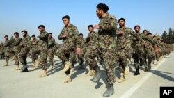 Afg'oniston askarlari. Kobul, 18-yanvar, 2021.