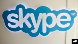 FILE - The Skype logo is pictured at Skype headquarters in Luxembourg.