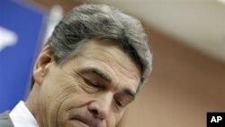 德克萨斯州州长佩里1月19日在南卡罗来纳州宣布退出竞选共和党总统候选人的选战