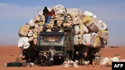 Camion à Madama au Niger le 1er janvier 2015.