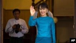 버마의 민주화 운동가 아웅산 수치 의원. (자료사진).