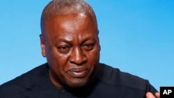 FILE - Ghana's President John Dramani Mahama.