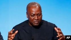 Le président du Ghana, John Dramani Mahama, 10 novembre 2015