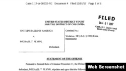 An image of the sentencing memo filed by special counsel Robert Mueller in the case against former National Security Advisor Michael Flynn, Dec. 4, 2018.