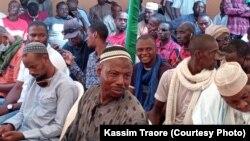 Issa Kaou Djim membre du M5 RFP. (Kassim Traoré/VOA)