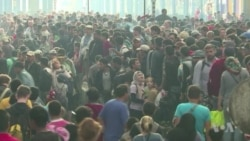 Migrants Crowd into Budapest Train Station, Find No Trains Heading West