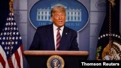 Président Donadl trump azali koloba na Maison Blanche, Washington, novembre 2020