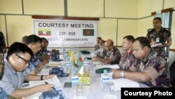 A battalion-level courtesy meeting between Border Guard Bangladesh (BGB) and Myanmar counterpart Border Guard Police (BGP) held at Maungdaw in Myanmar.