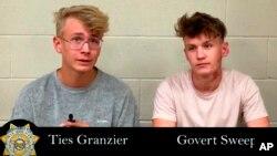 Тієс Гранцієр та Говерт Свееп бути затримані поруч із Національним центром безпеки у Неваді