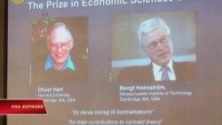 Giáo sư Harvard và giảng viên MIT nhận giải Nobel Kinh tế