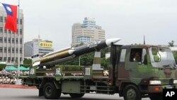 雄风三型导弹 (台湾国防部提供)