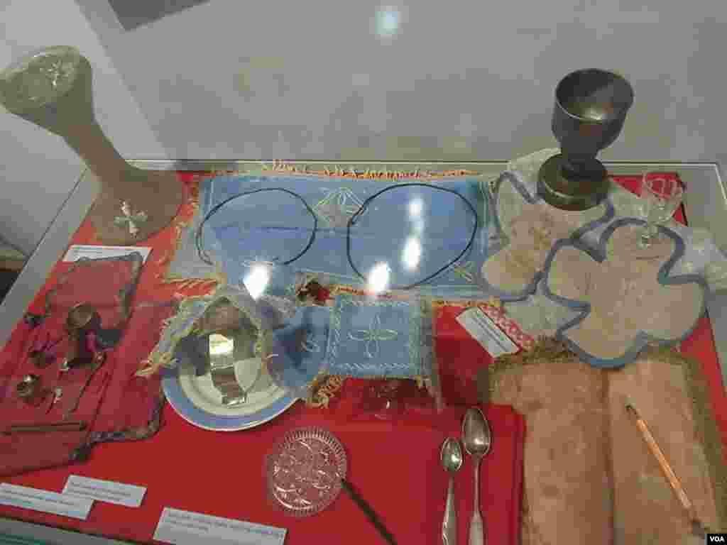 地下教會在宗教活動中使用的器具。